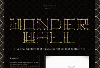 Wonder Wall Font