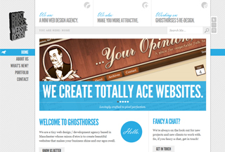 Ghost Horses Website Design