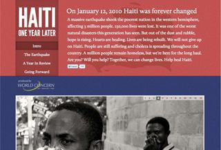 Haiti - One Year Later