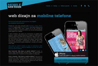 Web dizajn za mobilne telefone