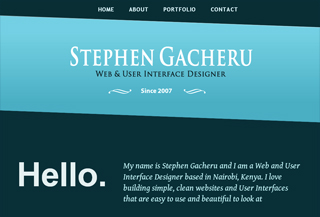 Portfolio of Stephen Gacheru