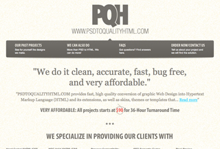PSD to Quality HTML