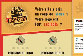 redesign de site et logo