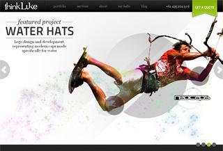 Thinkluke website design