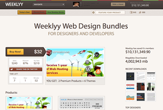 Weeklyy Web Design Bundles