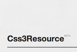 Css3Resource