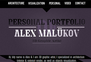 Portfolio of Alex Malukov
