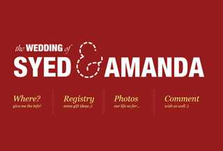 Wedding of Syed and Amanda