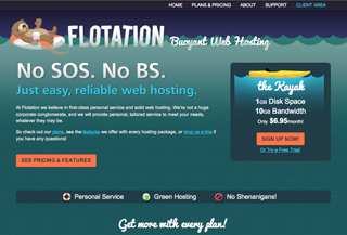 Flotation Web Hosting