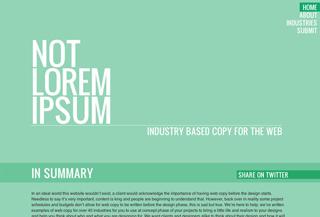 Not Lorem Ipsum