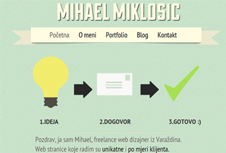 Mihael Miklosic - Web design