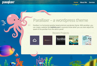 Parallaxr - wordpress theme