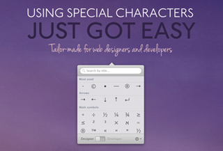 Characters mac app - Using special characters just got easy.