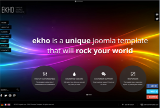 Ekho premium Joomla template