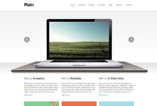 Plain - responsive HTML template