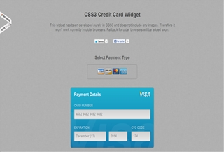 CSS3 Credit Card