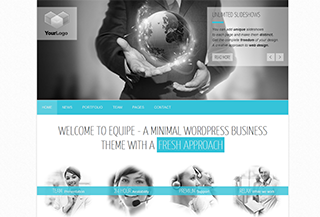 Responsive Minimal Business WordPress Theme: Equipe