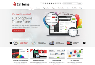 Caffeine Responsive WordPress Theme