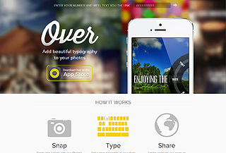 Over — add text to photos