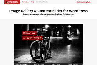 New RoyalSlider for WordPress