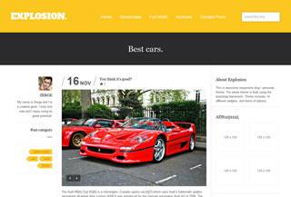 Explosion Responsive WordPress