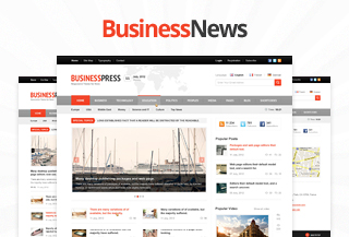 Business News WordPress Theme