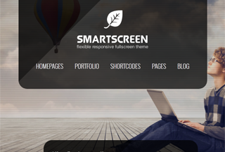 SmartScreen Responsive Fullscreen WordPress Theme