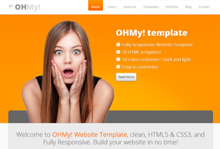 OHMy! Bootstrap template