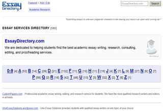 Essay Writing Directory