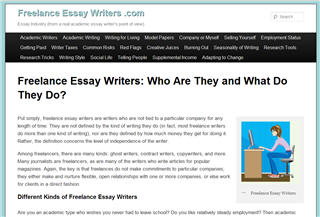 Freelance Essay Writers