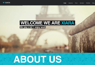 Xiara - WordPress Onepage