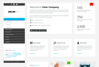 Valor - Responsive WP Theme