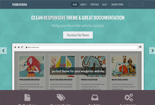 Premium WordPress Theme Venera
