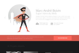Marc-André B. Super-héro Web