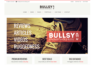 Bullsy - A Rugged Blog Theme