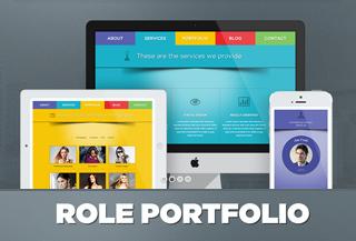 Role | One Page Portfolio