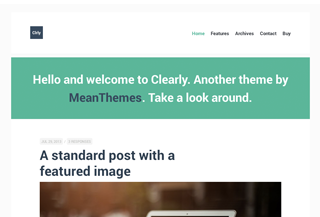 Clearly: WordPress Theme