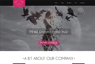 Gothica - One Page WP Theme