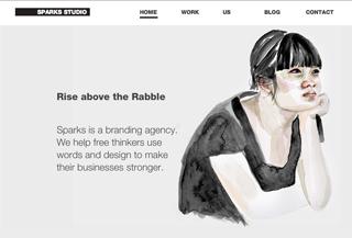 Sparks branding