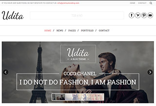 Udita - A Blog WordPress Theme