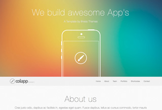 colapp | bootstrap template