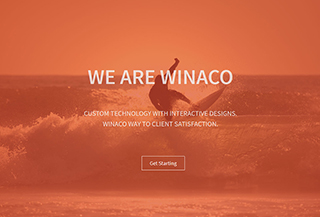 Winaco One Page Theme