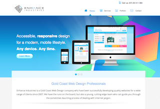 Enhance Industries Web Design