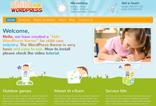 Child Care WordPress Theme
