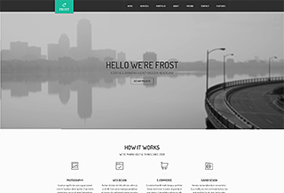 Frost Onepage/Multipage HTML5