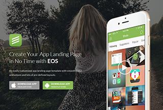 EOS App Landing Page