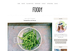 Foody - WordPress Theme