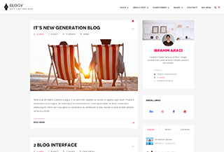Blogy - WordPress Blog Theme