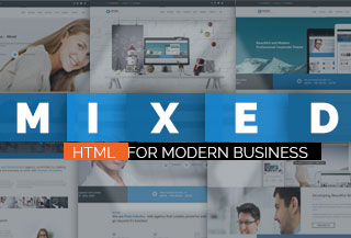 Mixed Modern HTML Template