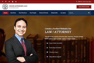 Attorney HTML Template